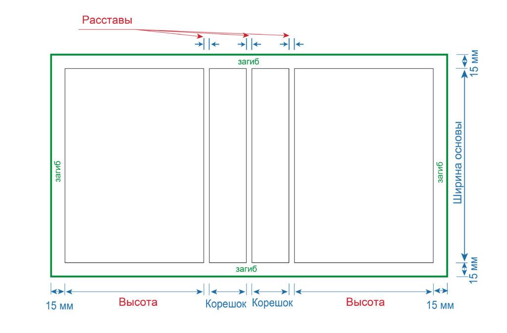 Схема разметки для календаря-домика